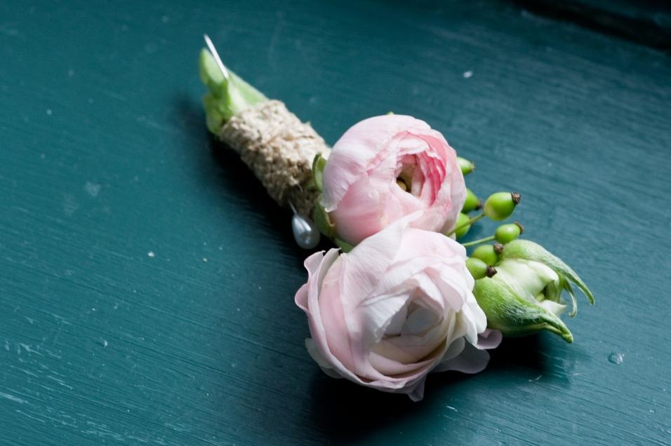 Pink Ranunculus Boutonniere