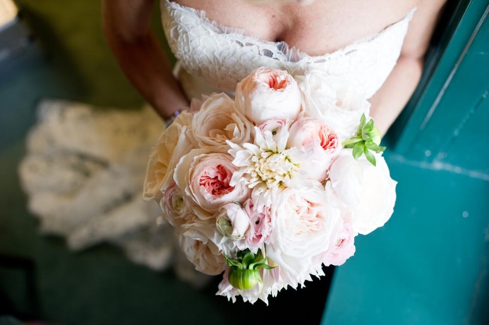 Dahlia and Garden Rose Bouquet