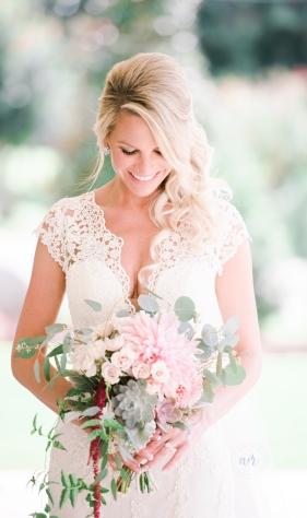 Cafe Au Lait Bridal Bouquet, Succulent Bridal Bouquet