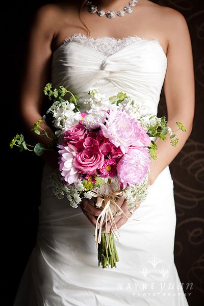 Pink and White Garden Bridal Bouquet