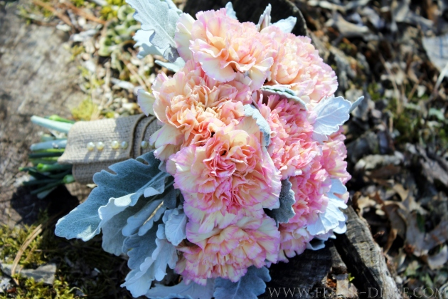 Pink Carnation Bridal Bouquet