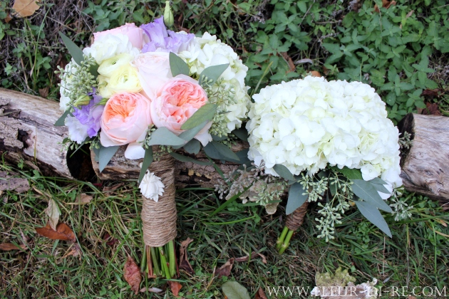 Coordinating Bridal and Bridesmaid Bouquets
