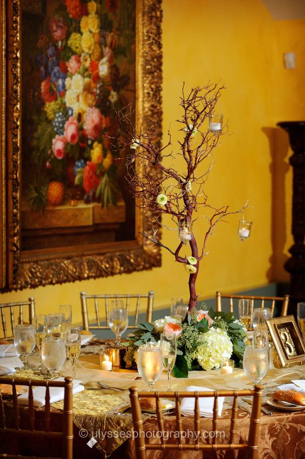 Manzanita Branch Wedding Centerpiece