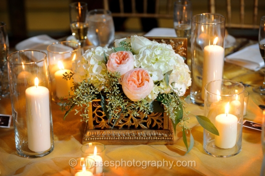 Antique Inspired Wedding Centerpieces