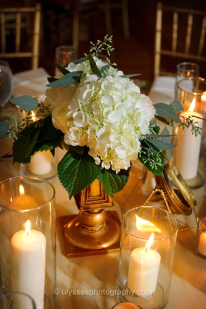 Gold Centerpiece Containers