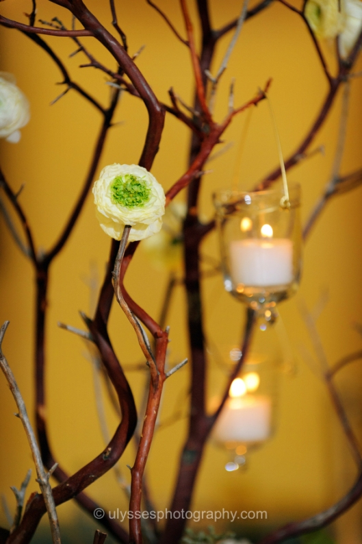 Centerpiece with Hanging Votives