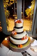 Orange and Peach Wedding Cake