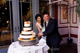 Ranunculus and Garden Rose Wedding Cake