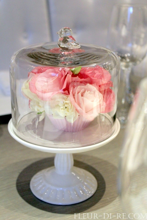 Floral Cupcake on Stand