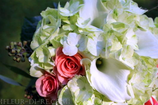 Hydrangea and Calla Lily Bouquet