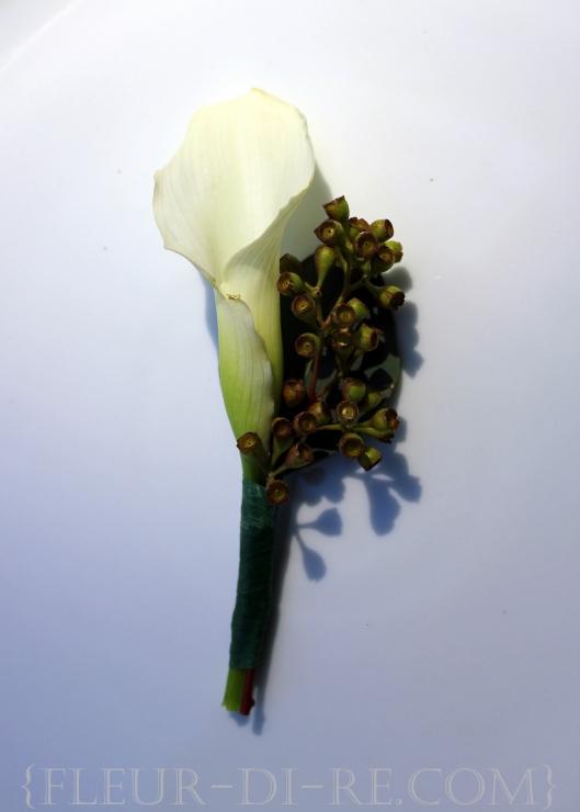 White Calla Lily Boutonniere