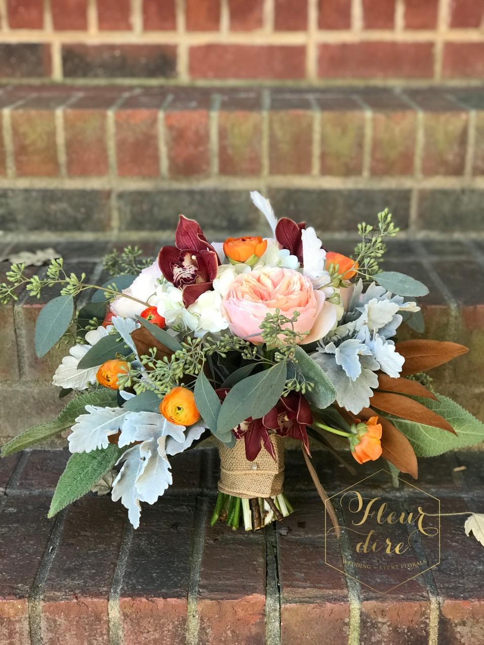 Fall Garden Style Mixed Bridal Bouquet
